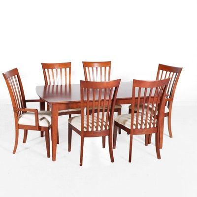 Cherry Finish Dining Table and Chairs, Contemporary
