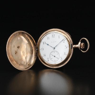 1910 Elgin Gold Filled Hunting Case Pocket Watch