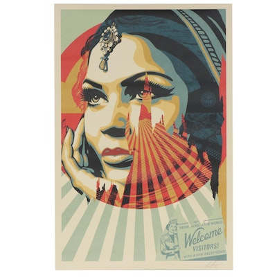 """Shepard Fairey Offset Poster """"Target Exceptions"""" , 2020"""