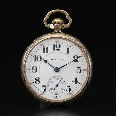 1940 Hamilton 10K Gold Filled Railroad Grade Pocket Watch