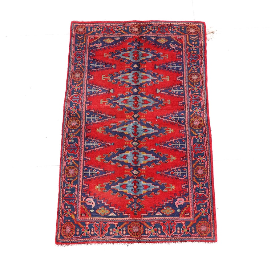 3'9 x 6'4 Hand-Knotted Wool Rug