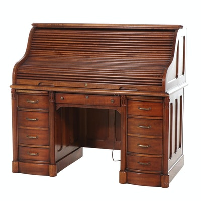 National Furniture Co. Mt. Airy Wood Roll-Top Desk
