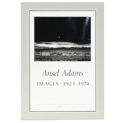 """Ansel Adams Offset Lithograph Poster """"Images 1923-1974"""""""