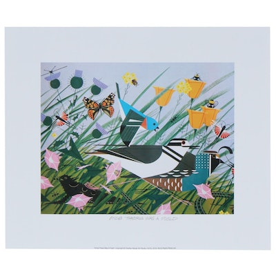 "Offset Lithograph after Charley Harper ""Once There was a Field"""