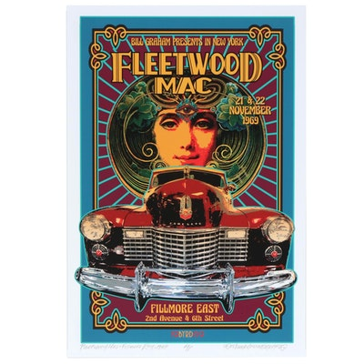 "David Edward Byrd Giclée ""Fleetwood Mac at the Fillmore East 1969"", 2020"