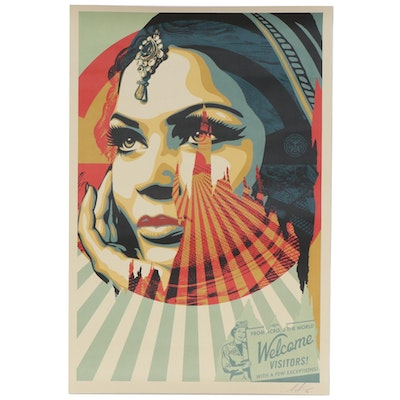 "Shepard Fairey Offset Poster ""Target Exceptions"", 2020"