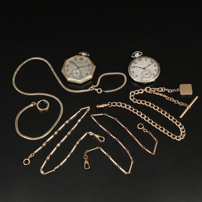 Collection of Gold Filled Pocket Watches and Fobs