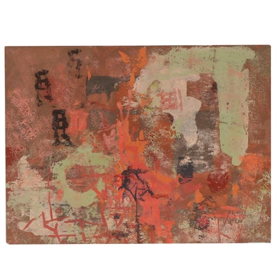 Frederick Lyman Jr. Abstract Gouache Painting