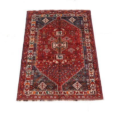 5'8 x 8'2 Hand-Knotted Persian Wool Rug