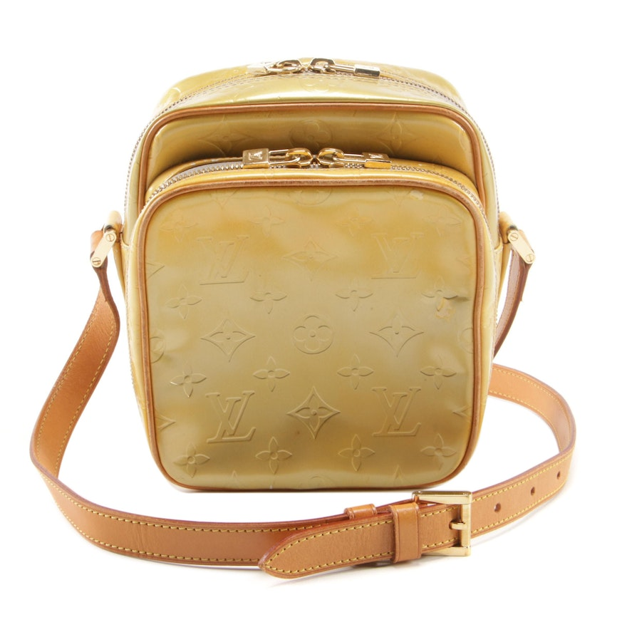 Louis Vuitton Wooster Crossbody Bag in Monogram Vernis and Vachetta Leather
