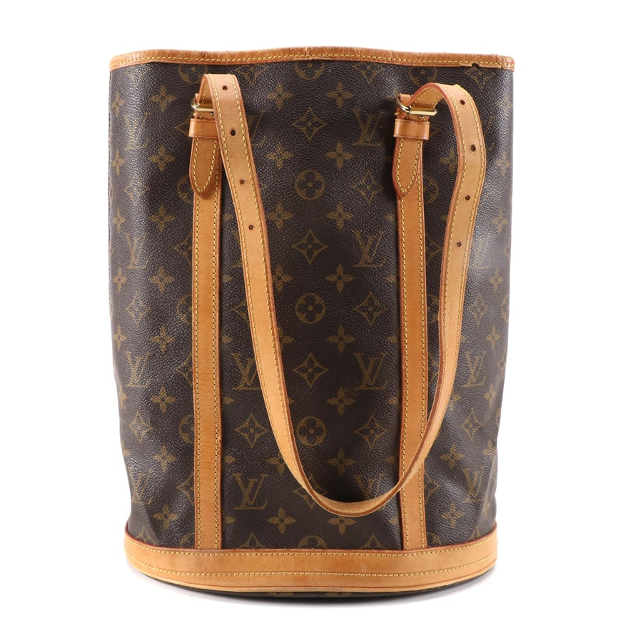 Louis Vuitton Bucket Bag GM in Monogram Canvas and Vachetta Leather