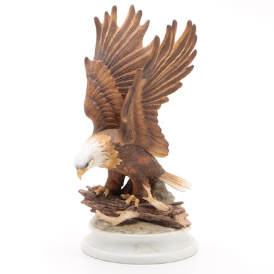 Lefton American Bald Eagle Bone China Figurine