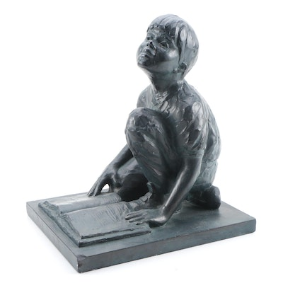 """Gary Lee Price Cast Bronze Sculpture """"Day Dreams I,"""" 2000"""