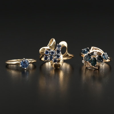 14K Sapphire and Diamond Ring Selection