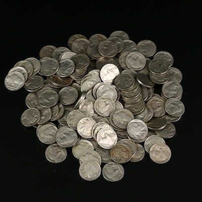 Vintage Buffalo Nickels, 1920s and 1930s