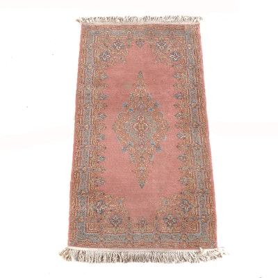 3'0 x 6'5 Hand-Knotted Persian Kerman Wool Rug