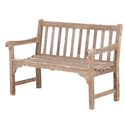 Smith & Hawkens Teak Garden Bench, Late 20th Century