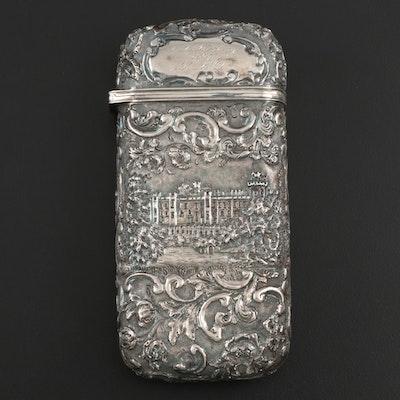 Nathaniel Mills of Birmingham Repoussé Sterling Silver Étui Necessaire, 1845