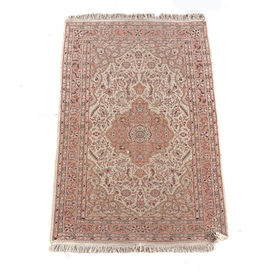 3'7 x 6'2 Hand-Knotted Turkish Ladik Wool Rug