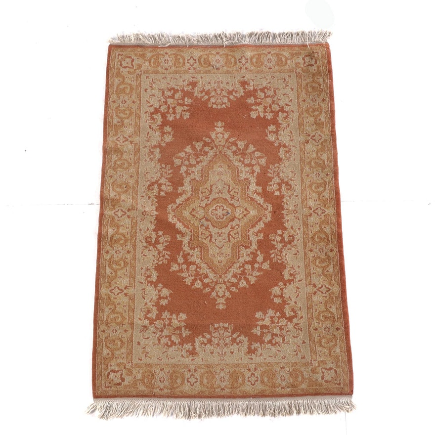 3'2 x 5'4 Hand-Knotted Indo-Persian Wool Rug
