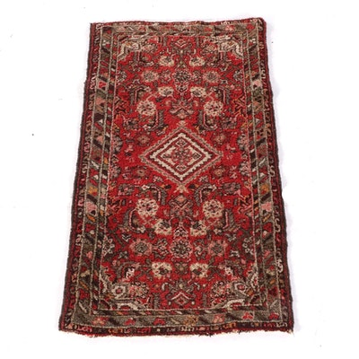 2'4 x 3'11 Hand-Knotted Persian Hamadan Wool Rug