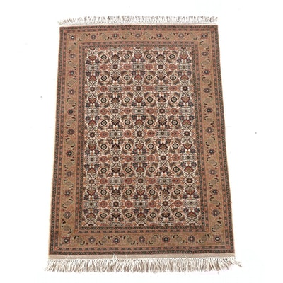 4'0 x 6'3 Hand-Knotted Persian Hamadan Wool Rug
