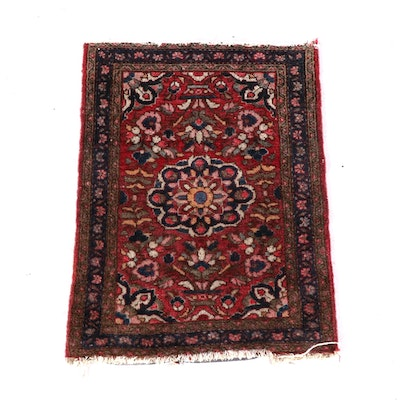 2'2 x 2'9 Hand-Knotted Persian Yazd Wool Rug