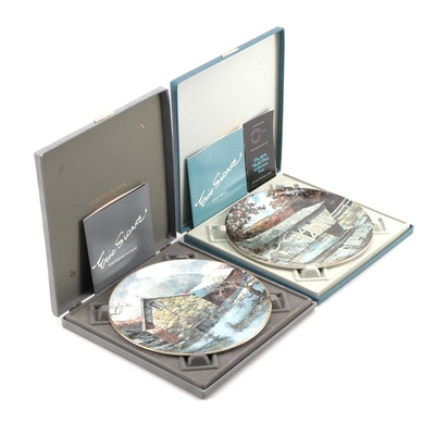 "Royal Doulton Eric Sloane Collector Plates Including ""Lovejoy Bridge,"" 1977–1978"