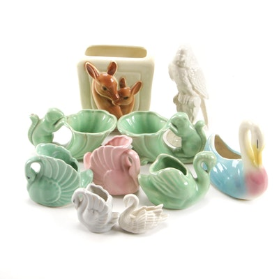 Lenox and Other Animal Themed Planters and Figurines, Mid to Late 20th Century