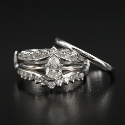 14K Diamond Ring and Ring Guard With 10K Band