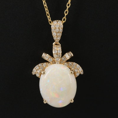 EFFY 14K Gold Opal and Diamond Necklace