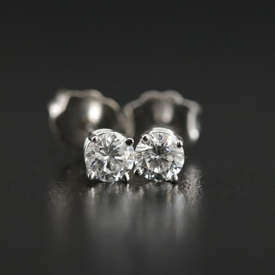 14K Gold 0.43 CTW Diamond Stud Earrings