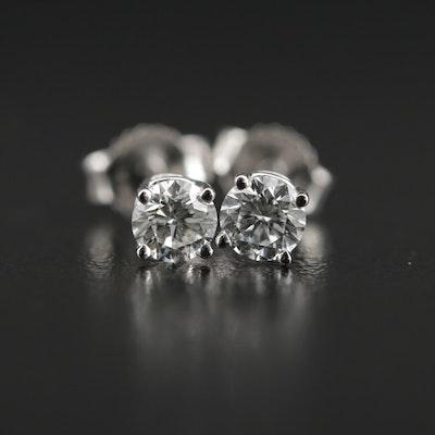 14K Gold 0.46 CTW Diamond Stud Earrings