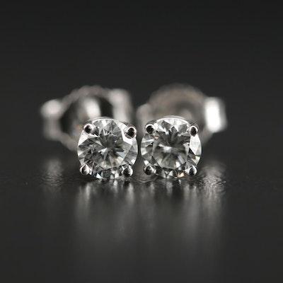 14K Gold 0.46 CTW Diamond Studs