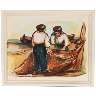 "Di Santo Oil Painting ""Giorni Esati"", Mid to Late 20th Century"
