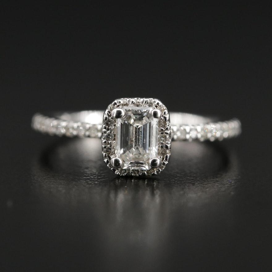 14K Gold 1.04 CTW Diamond Ring