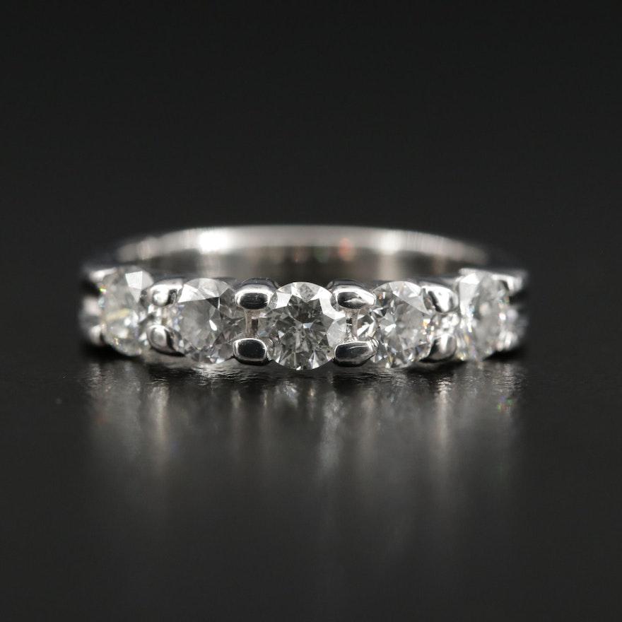 14K Gold 1.00 CTW Diamond Five Stone Ring
