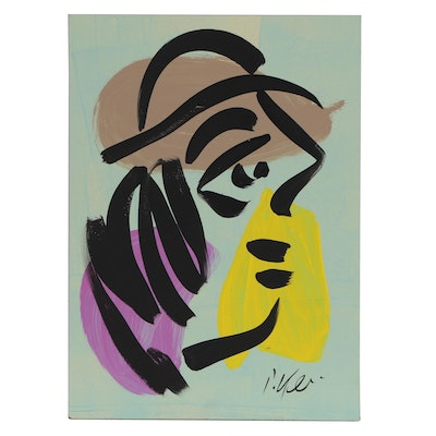 Peter Keil Abstract Figure Acrylic Painting