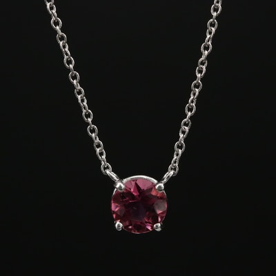 18K Pink Tourmaline Necklace