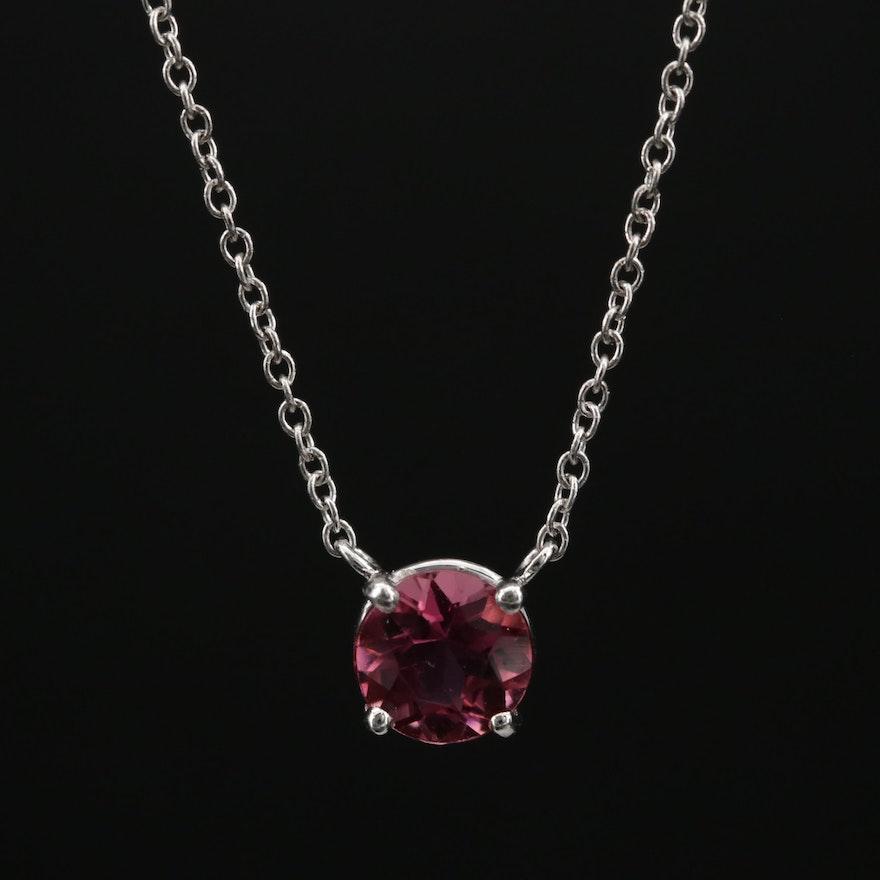 18K Pink Tourmaline Necklace