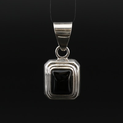 Silpada Sterling Glass Pendant