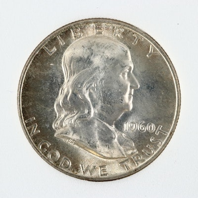 1960-D Uncirculated Franklin Silver Half Dollar