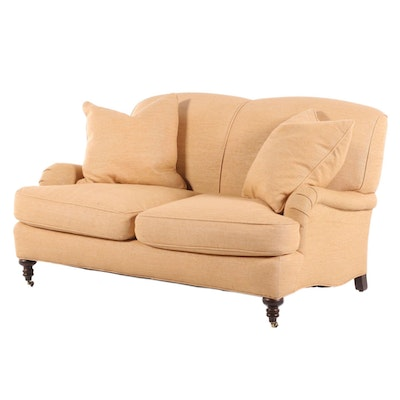 Williams-Sonoma Upholstered Love Seat, Late 20th Century