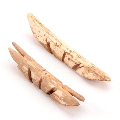 Asmat Carved Bone Nose Piercings