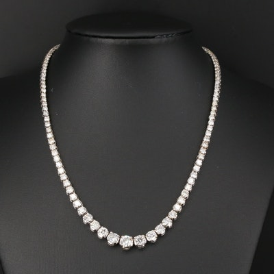 14K Graduated 11.07 CTW Diamond Riviera Necklace