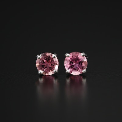 Sterling Silver Tourmaline Stud Earrings
