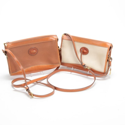Dooney & Bourke All-Weather Pebbled Leather Two-Tone Crossbody Bags, Vintage