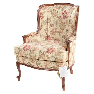 Ethan Allen Louis XV Style Upholstered Armchair