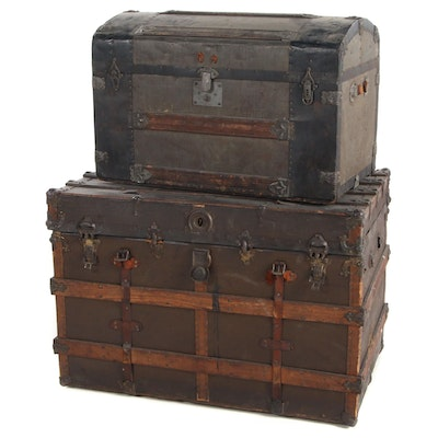Two Victorian Trunks, Late 19th Century