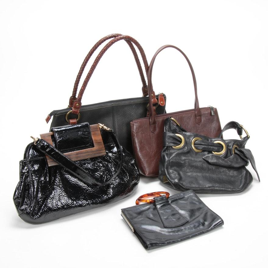 Fossil, Zina Eva, Hobo International, Kooba Top Handle Bags